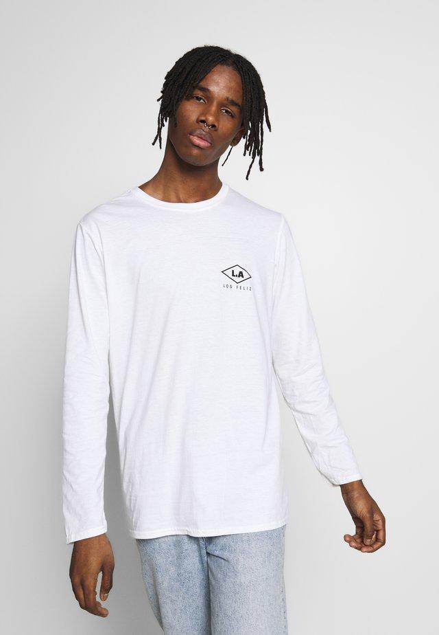 LOS FELIZ CUFF TEE - T-shirt à manches longues - white