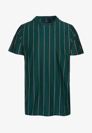 VERT STRIPE TEE - T-shirt con stampa - teal