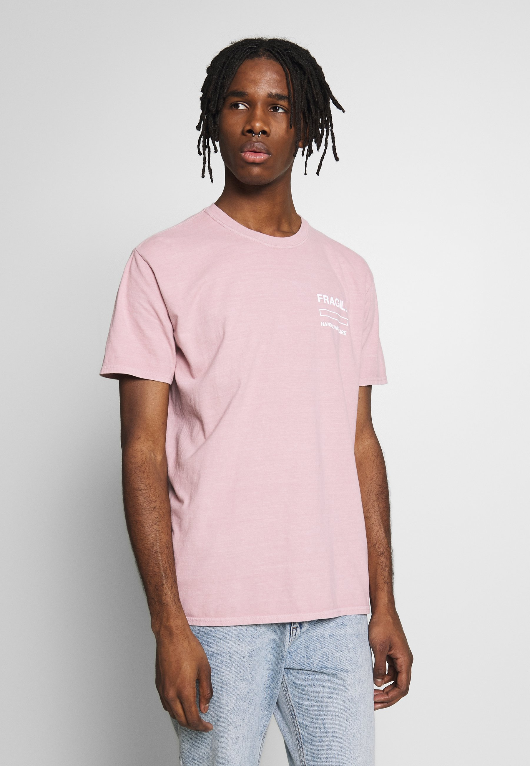 New Look Fragile Tee - T-shirt Print Mid Pink