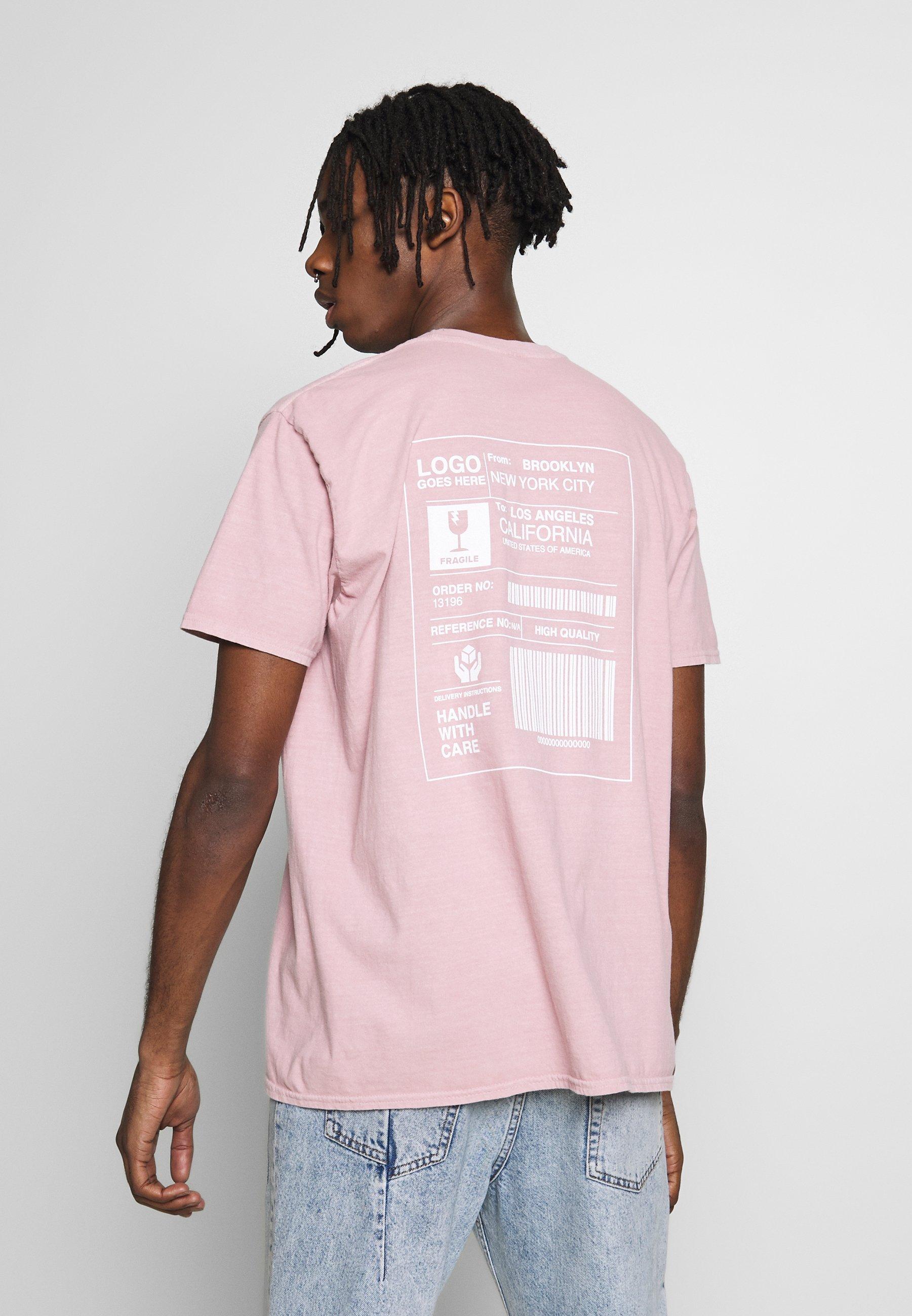 New Look FRAGILE TEE - T-shirt z nadrukiem - mid pink