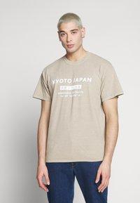 New Look - JAPAN PRINT TEE - Print T-shirt - tan - 0