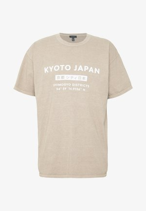 JAPAN PRINT TEE - T-shirt print - tan