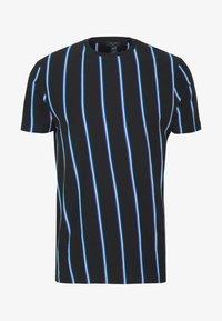 New Look - VERT STRIPE TEE - Print T-shirt - black - 3