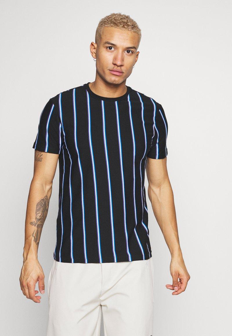 New Look - VERT STRIPE TEE - Print T-shirt - black
