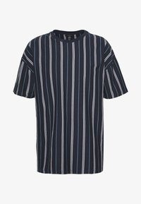 New Look - VERT STRIPE TEE - Print T-shirt - navy - 4