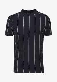 New Look - VERT STRIPE TEE - Print T-shirt - navy - 0