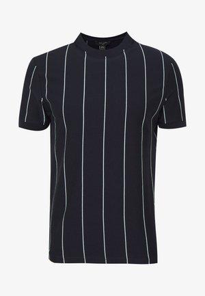 VERT STRIPE TEE - Print T-shirt - navy