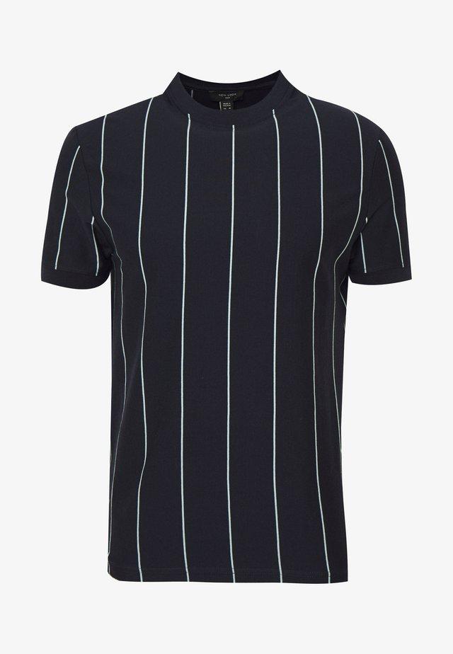 VERT STRIPE TEE - T-shirt print - navy