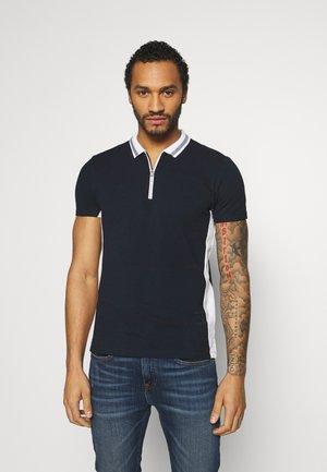 ZIP POLO - Polo shirt - navy