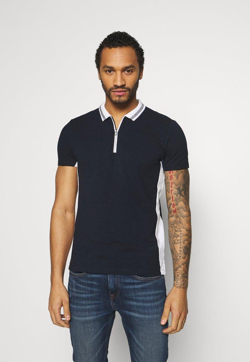 New Look - ZIP POLO - Polo shirt - navy