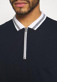 New Look - ZIP POLO - Polo shirt - navy - 5