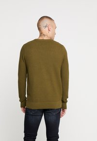 New Look - WAFFLE CREW - Jumper - light khaki - 2