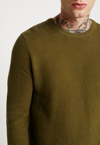 New Look - WAFFLE CREW - Jumper - light khaki - 4