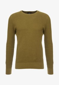 New Look - WAFFLE CREW - Jumper - light khaki - 3