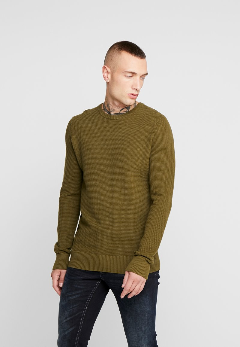 New Look - WAFFLE CREW - Jumper - light khaki