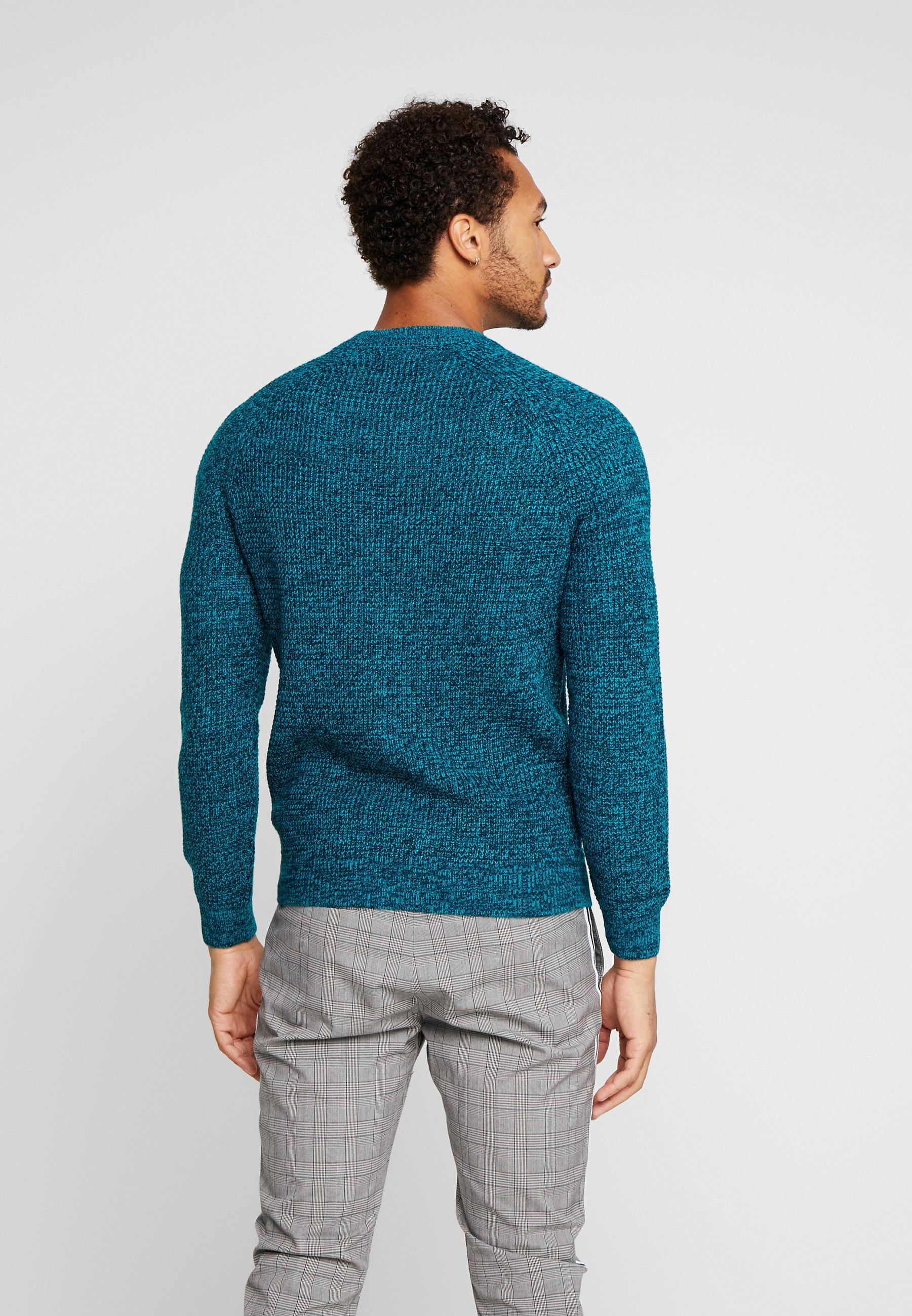 New Look RAGLAN TUCK STITCH CREW - Sweter - turquoise