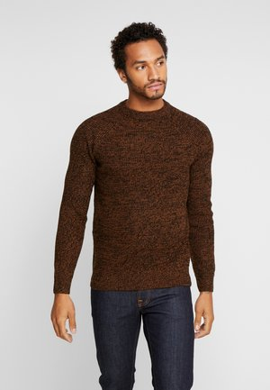 RAGLAN TUCK STITCH CREW - Neule - light brown