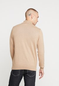 New Look - TEXTURED ROLL NECKS - Jumper - stone