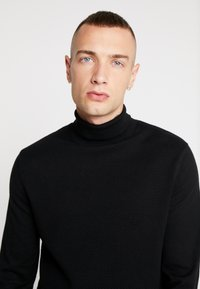 New Look - TEXTURED ROLL NECKS - Svetr - black - 4