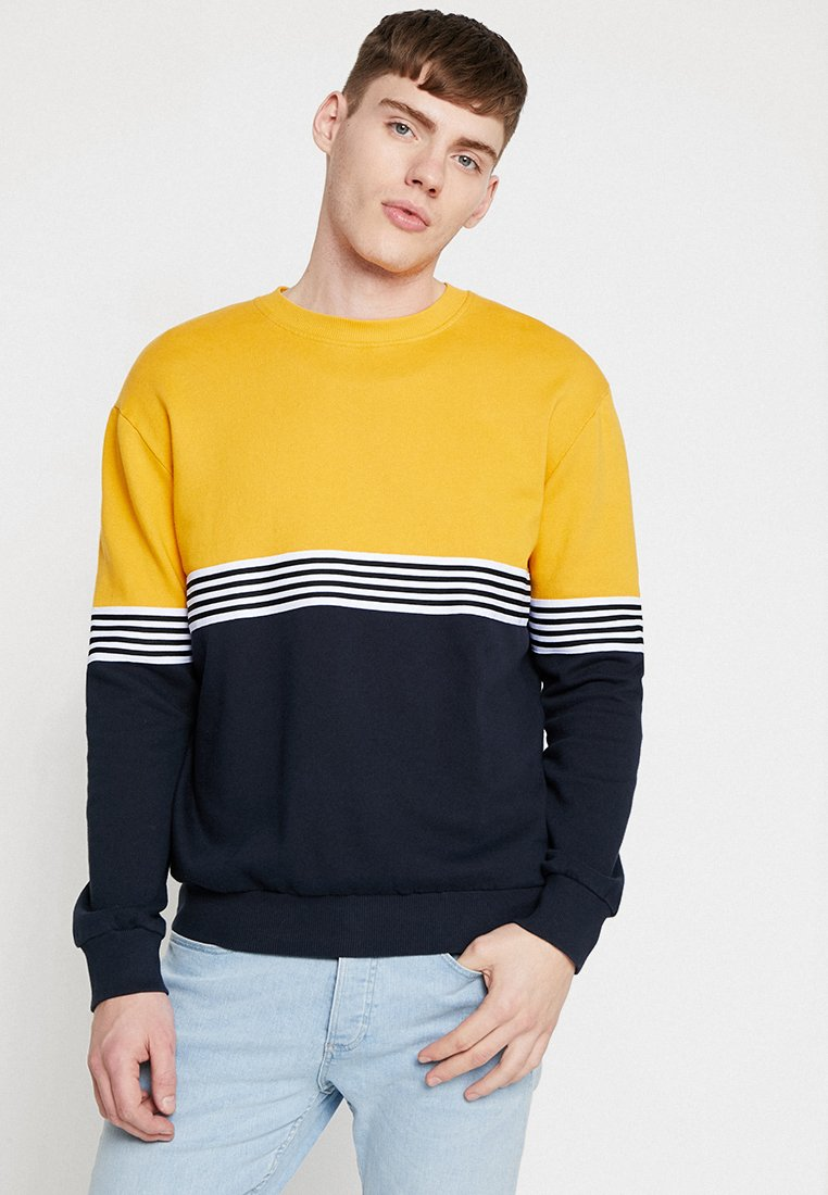 New Look - TAPE BLOCKED CREW - Sweatshirts - mid yellow