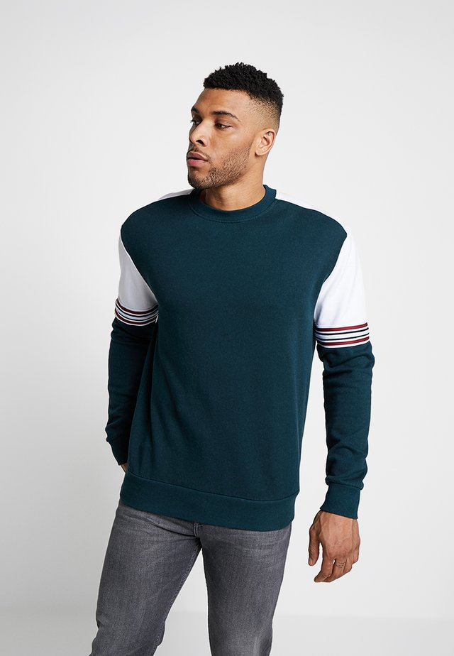 BLOCKED TAPE CREW - Sweater - teal