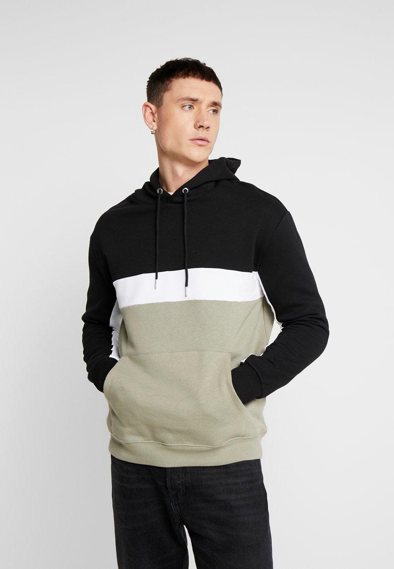 New Look - SPORT BLOCK  - Sweat à capuche - light khaki