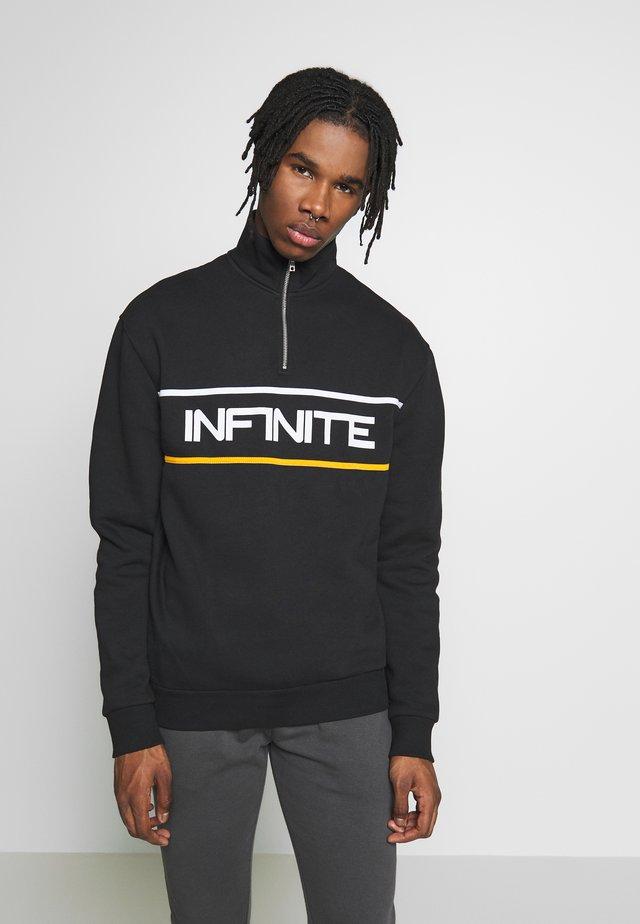 INFINITE ZIP FUNNEL - Sweatshirt - black