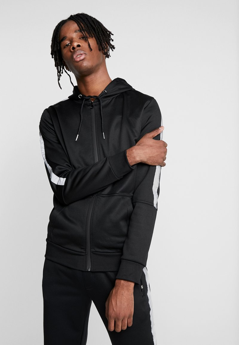 New Look - REFLECTIVE SIDE ZIP THRU - Mikina na zip - black