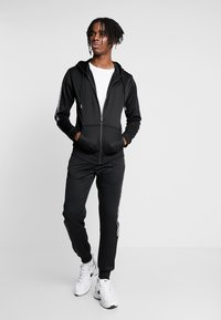 New Look - REFLECTIVE SIDE ZIP THRU - Mikina na zip - black - 1