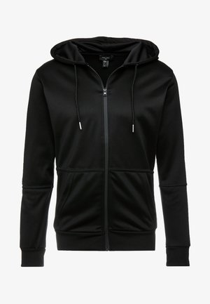 REFLECTIVE SIDE ZIP THRU - Zip-up hoodie - black