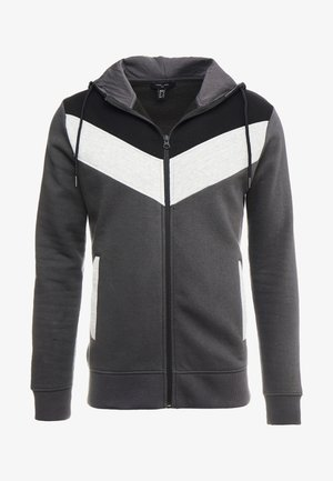 CHEVRON COLOUR BLOCK ZIP THRU - Sudadera con cremallera - mid grey
