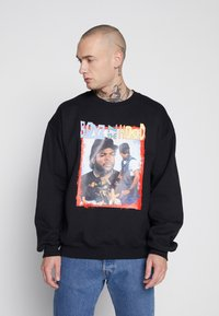 New Look - BOYS HOOD  - Sweatshirt - black - 0