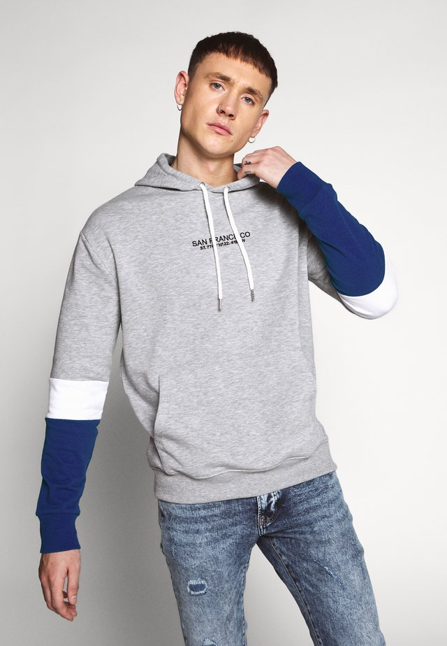 BLOCK - Jersey con capucha - mottled grey