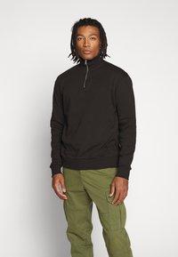 New Look - ZIP FUNNEL NECK  - Sweater - black - 0