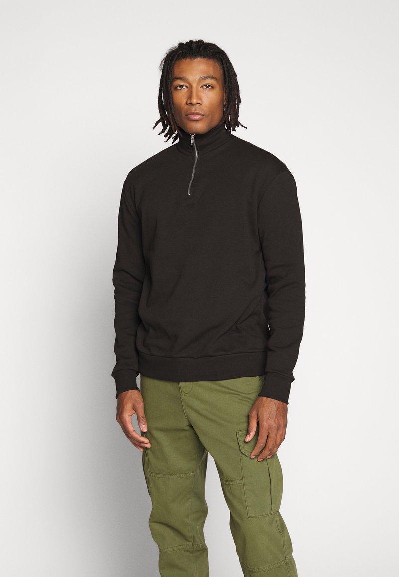 New Look - ZIP FUNNEL NECK  - Sweater - black