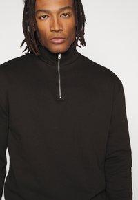 New Look - ZIP FUNNEL NECK  - Sweater - black - 4