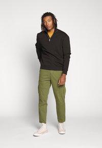 New Look - ZIP FUNNEL NECK  - Sweater - black - 1
