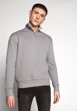 ZIP FUNNEL NECK - Sweatshirt - light grey