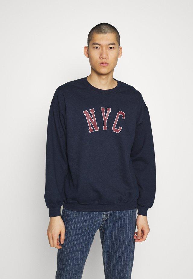 PRINT - Sweater - navy