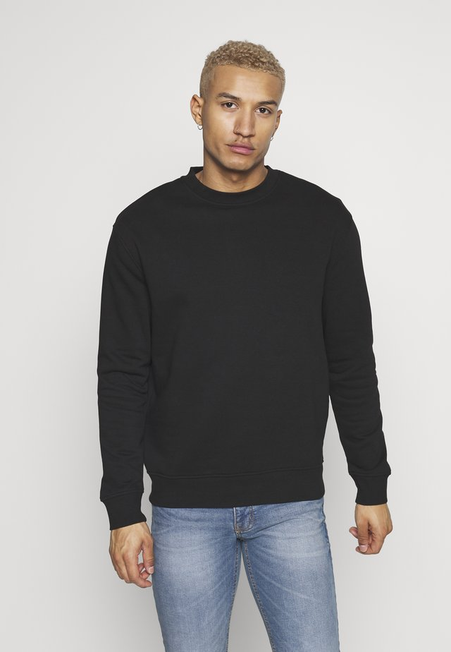 RELAXED CREW - Sweatshirt - black