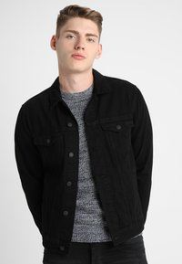 New Look - TRANS BASIC  - Denim jacket - black - 0
