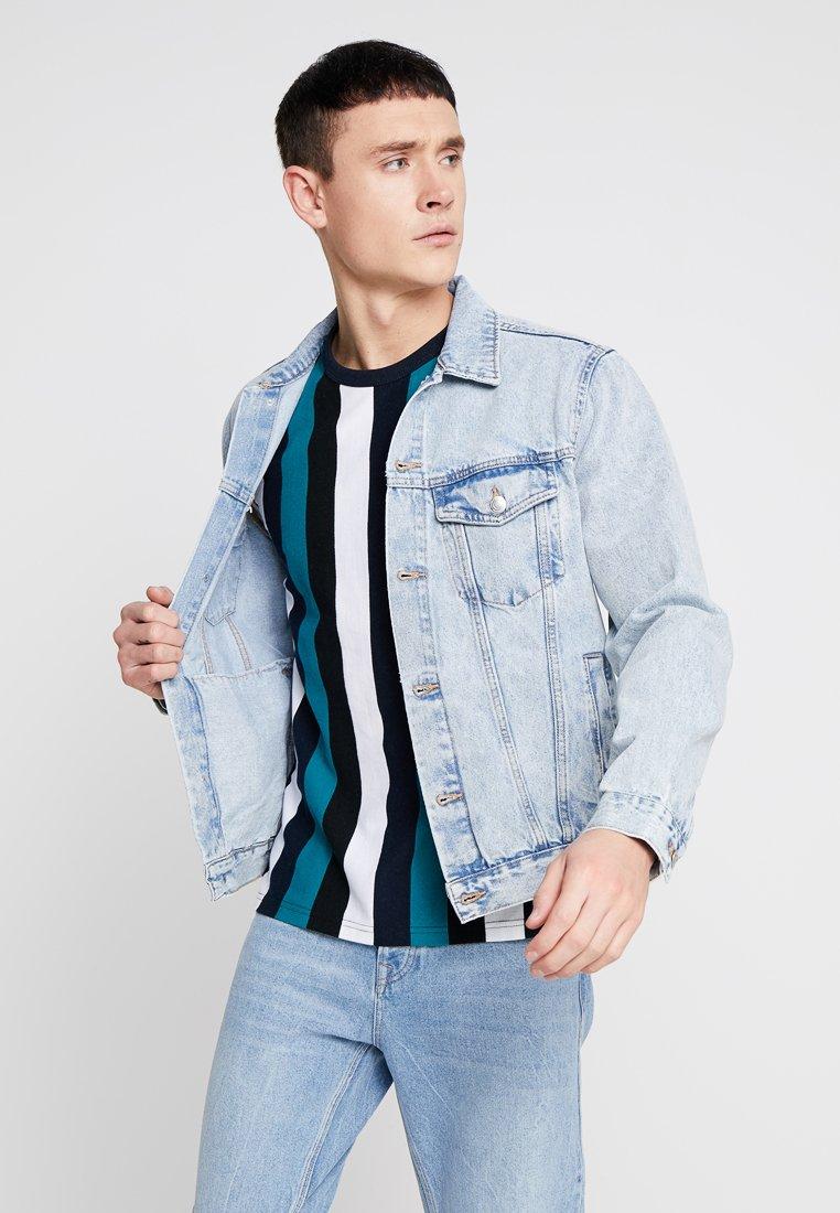 New Look - BLEACH WESTERN - Denim jacket - blue