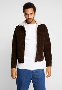 New Look - BORG WESTERN - Light jacket - chocolate - 0