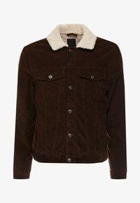 New Look - BORG WESTERN - Light jacket - chocolate - 4
