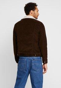 New Look - BORG WESTERN - Light jacket - chocolate - 2