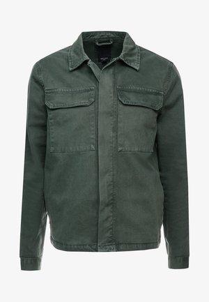 UTILITY SHACKET - Džínová bunda - dark khaki