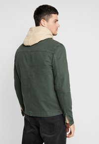New Look - UTILITY SHACKET - Cowboyjakker - dark khaki - 2