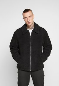 New Look - ALL OVER BORG - Summer jacket - black - 0