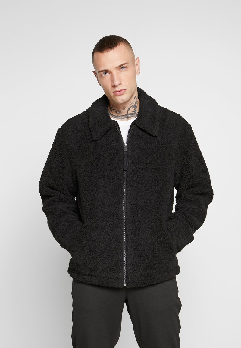 New Look - ALL OVER BORG - Summer jacket - black