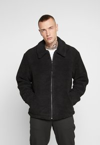 New Look - ALL OVER BORG - Summer jacket - black - 2
